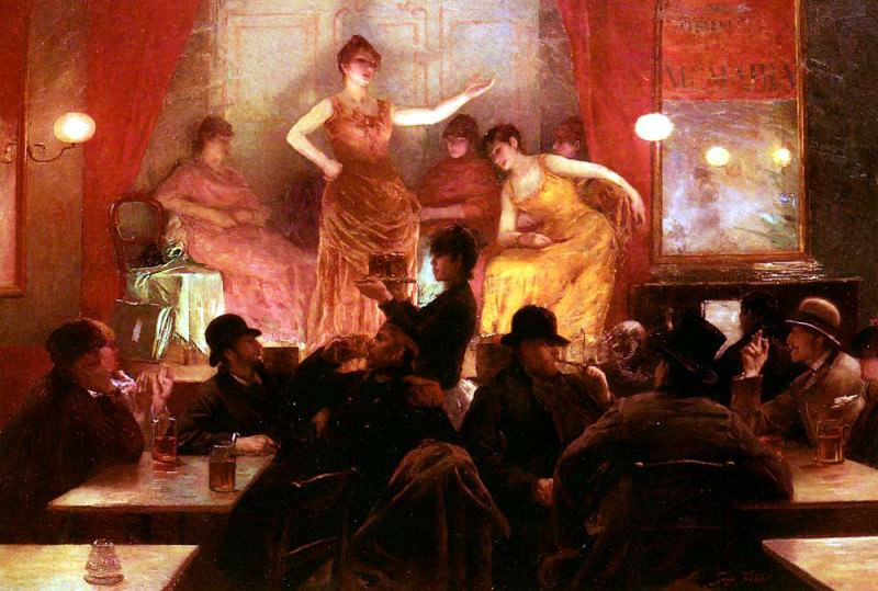 Fichefet Georges Au Cafe Theatre. French artists