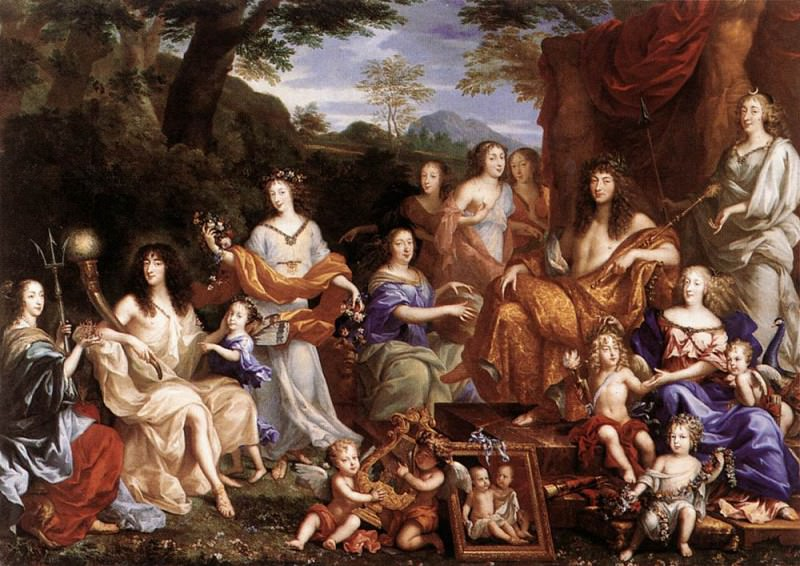 NOCRET Jean The Family Of Louis XIV. French artists