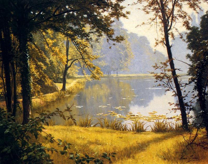Biva Henri A Lily Pond. French artists