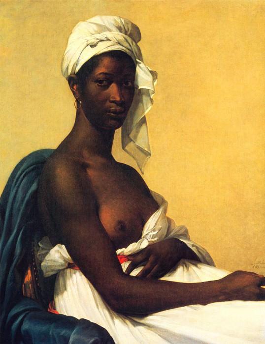 Бенуа, Мари - Портрет негритянки. Французские художники