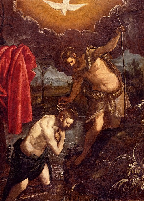 Tintoretto Domenico The Baptism Of Christ. French artists