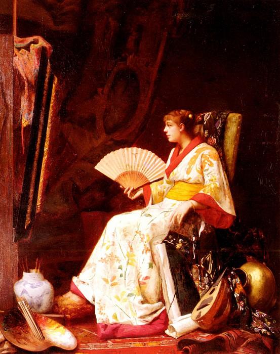 Marie de Schryver Louis LA MARCHANDE DES FLUERS, PLACE DE LA CONCORDE. French artists