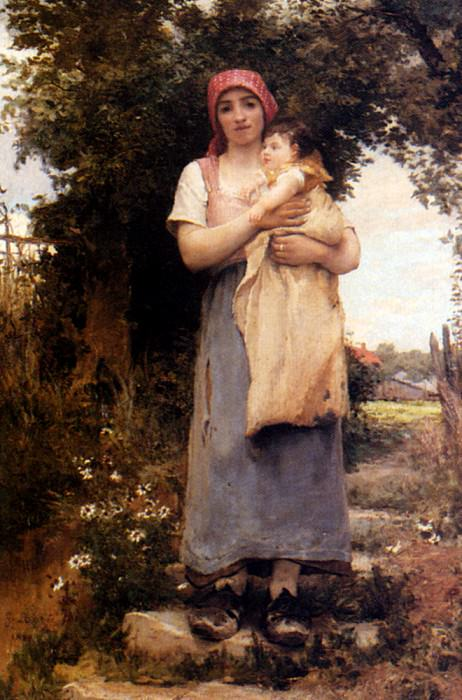 Laugee Georges A Mother Holding Her Child. French artists