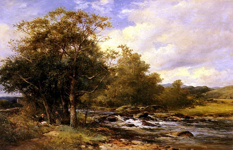 Bates David Resting Beside A River. French artists