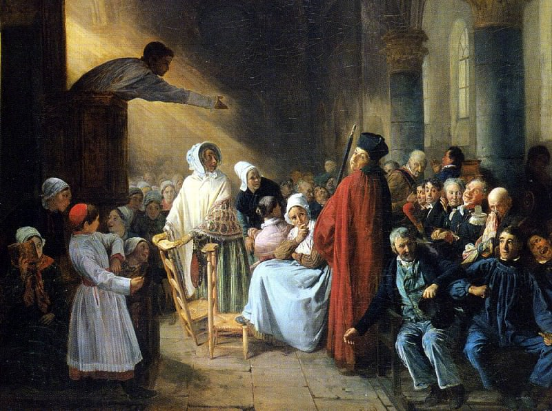 Бияр, Франсуа Огюст - Проповедь. Французские художники