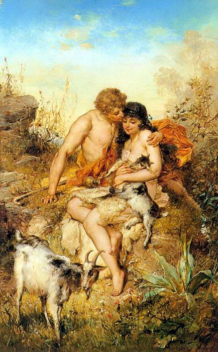 Bernard E Arcadia. French artists