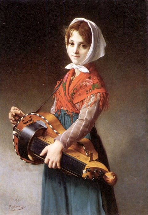 The Hurdy - Gurdy Girl. French artists