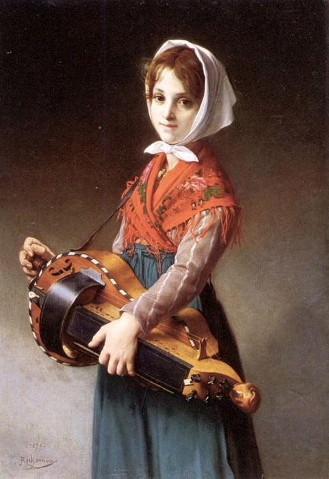 Девушка с шарманкой. Французские художники