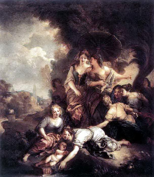Шарль де ЛАФОСС - Обретение Моисея. Французские художники