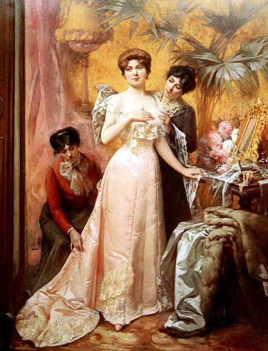 Humbert Louis Preparing For The Ball. French artists