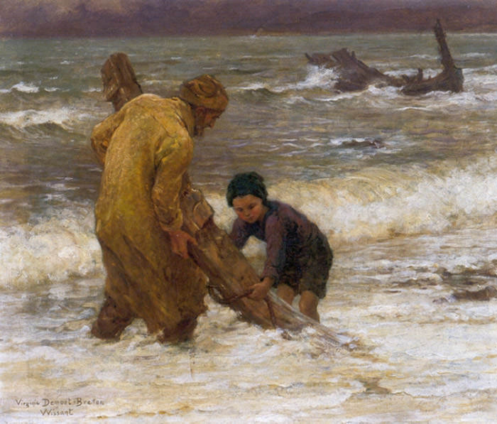 Breton Virginie Demont After the Storm. French artists