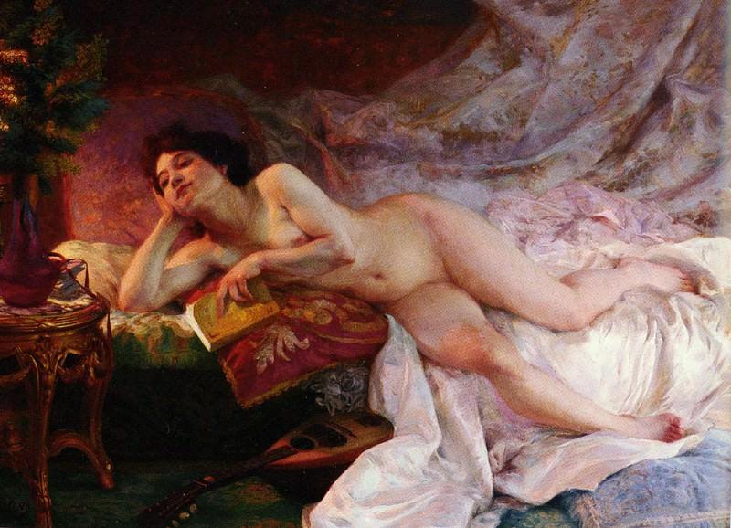 Martens Ernst Edouard La Derniere Page Du Roman. French artists