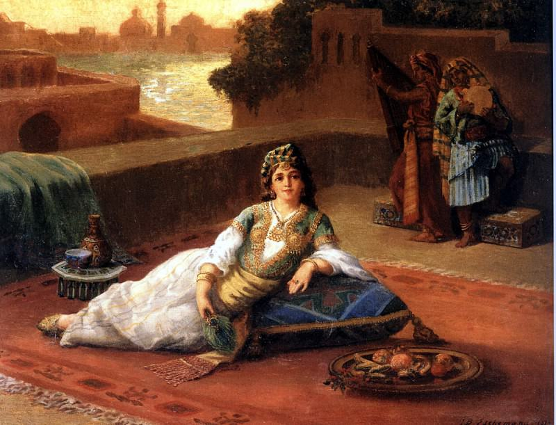 The Harem Beauty. French artists