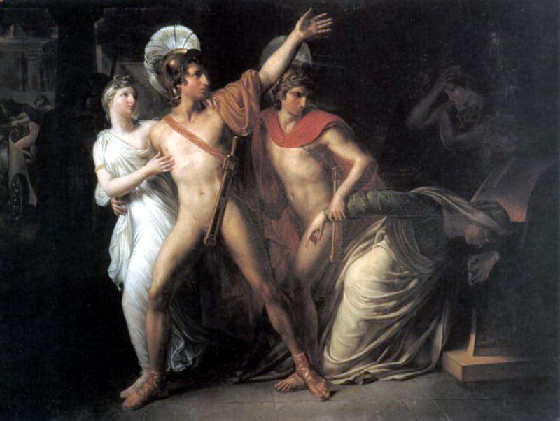 Castor and Polux Delivering Helen. French artists