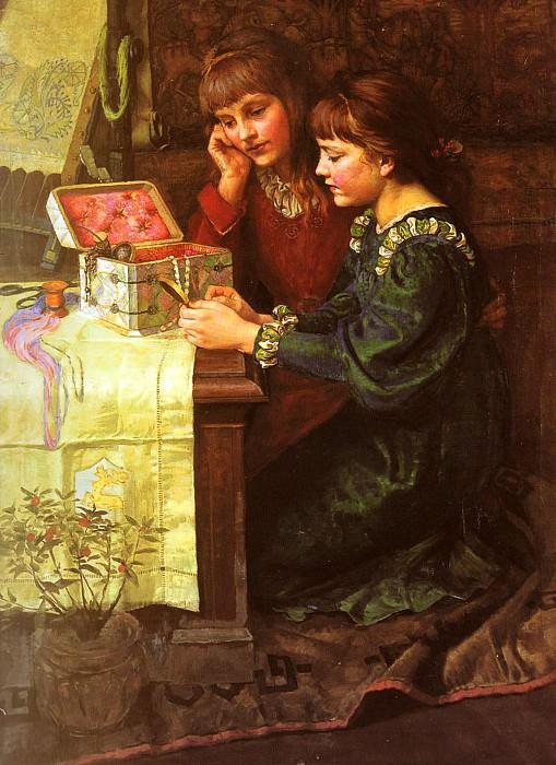 Гоу, Мэри Л. - Шкатулка со швейными принадлежностями. Французские художники