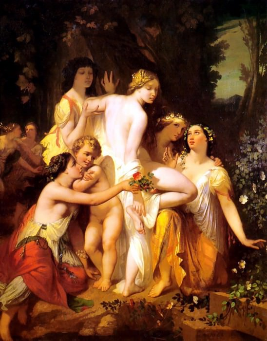 The Bath of Venus. French artists