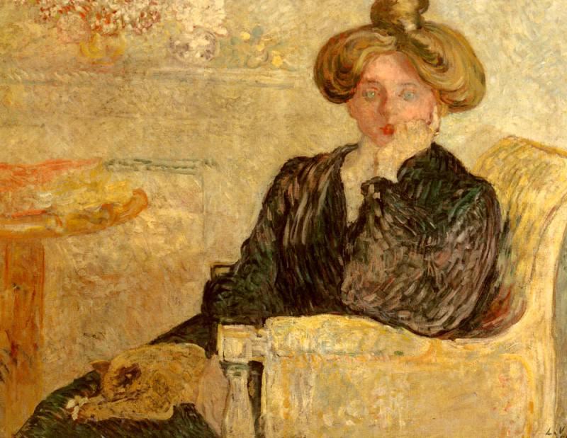 Valtat Louis Femme Dans Un Fauteuil. French artists