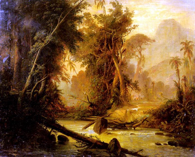 Bellerman Ferdinand A Tropical Forest In Venezuela. French artists