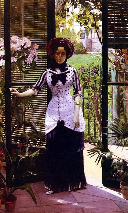 Bartholome Albert Portrait De La Femme D - Artiste Entrant Dans La Serre. French artists