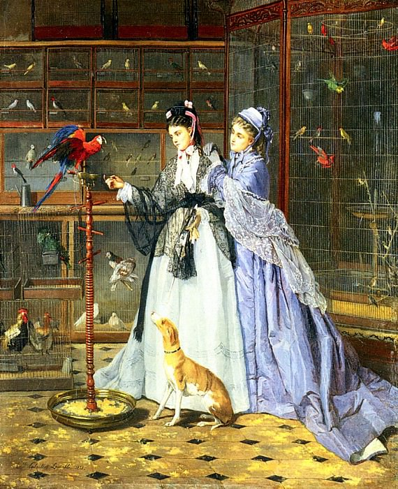 Lassalle Camille Cabaillot At The Birdsellers. French artists