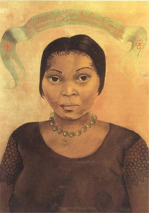 1931 Portrait of Eva Frederick. Frida Kahlo