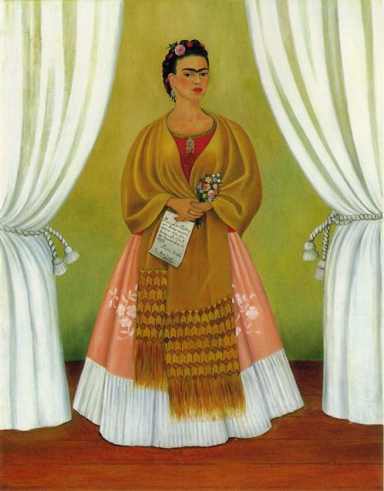 Self-Portrait (Dedicated to Leon Trotsky) (1). Frida Kahlo