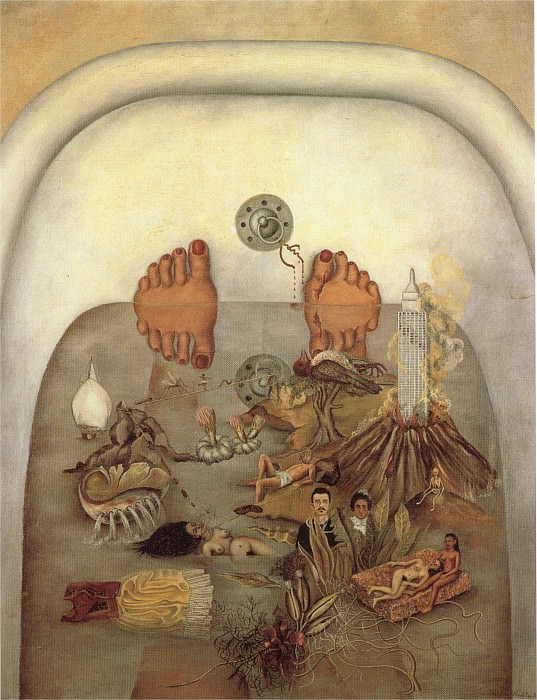 What the Water Gave Me (3). Frida Kahlo