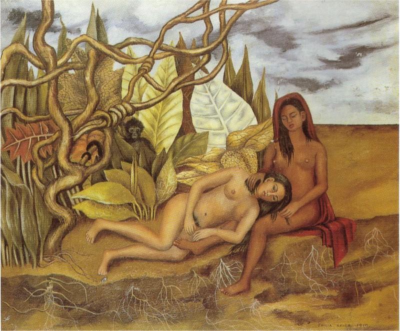 Две обнажённые в лесу (3). Фрида Кало