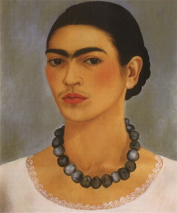 Autoportrait au collier. Frida Kahlo