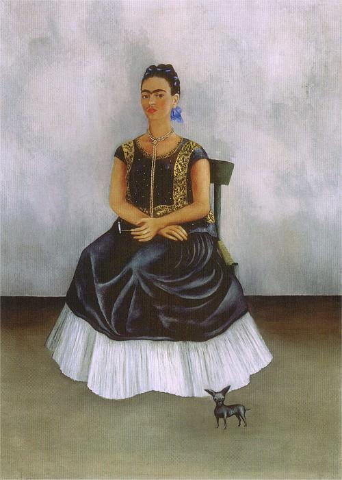 Автопортрет с собачонкой. Фрида Кало