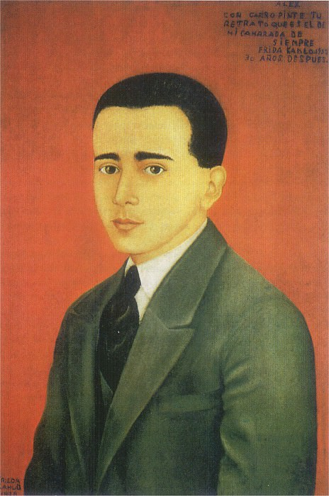 1928 Portrait of Alejandro Gomez Arias. Frida Kahlo
