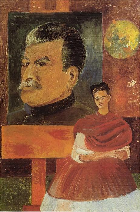 Autoportrait avec staline. Frida Kahlo