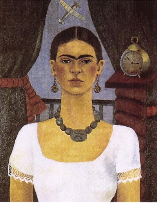 Autoportrait - le temps vole. Frida Kahlo