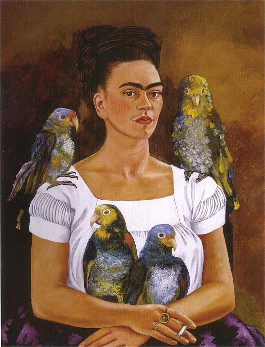 Moi et mes perroquets. Frida Kahlo
