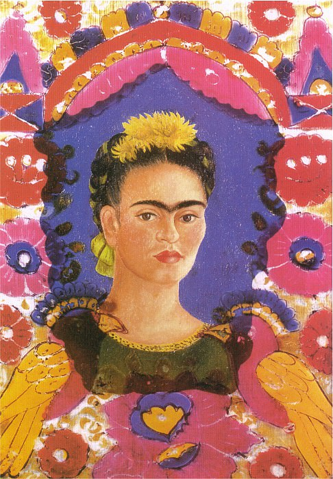 Автопортрет в рамке. Фрида Кало