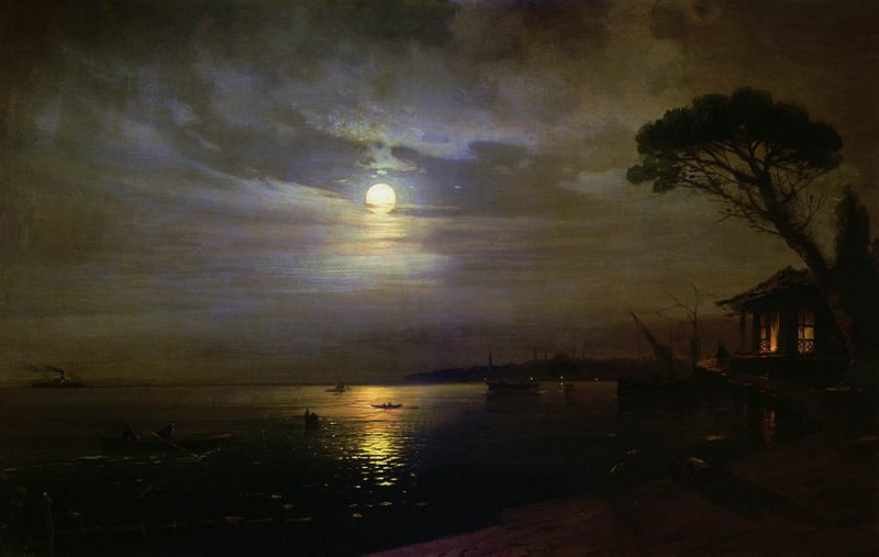 Moonlit Night 1888 100x150. Ivan Konstantinovich Aivazovsky