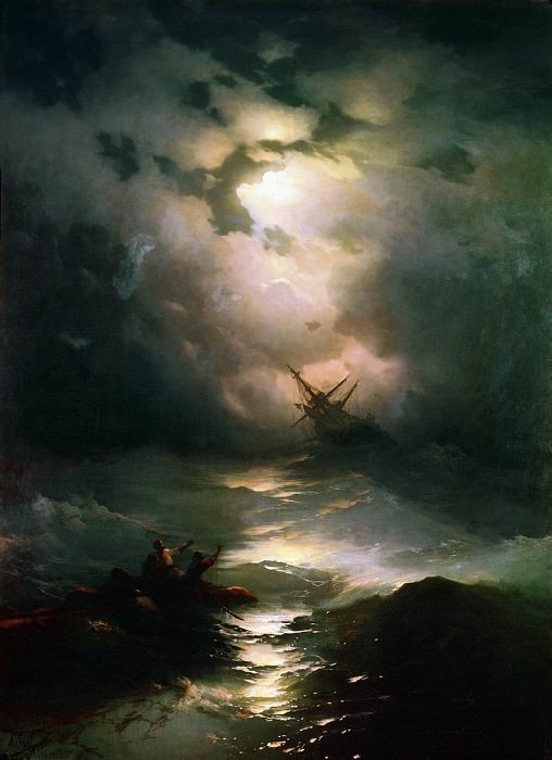 Storm in the North Sea in 1865 269h195. Ivan Konstantinovich Aivazovsky