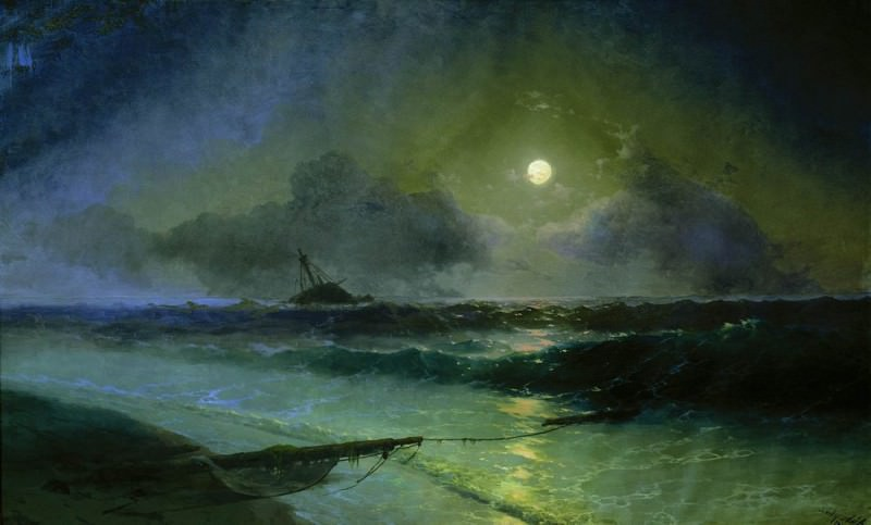 Восход луны в Феодосии 1892 200х327,5. Иван Константинович Айвазовский