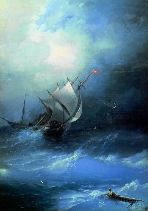 Tempest in the Arctic Ocean in 1864 208h148. Ivan Konstantinovich Aivazovsky