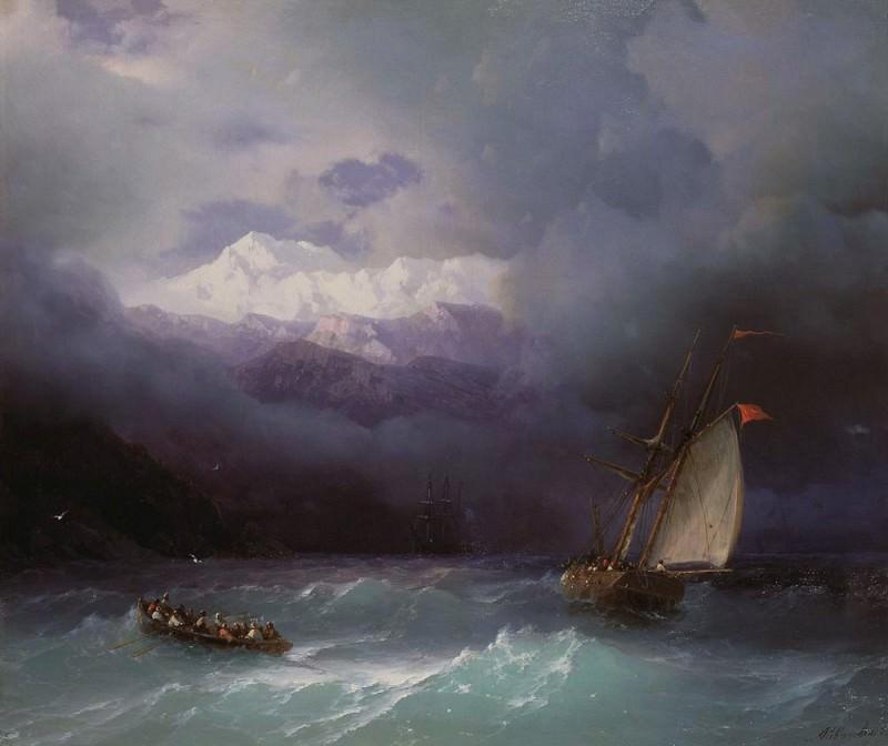 Бурное море 1868 54,2х65. Иван Константинович Айвазовский