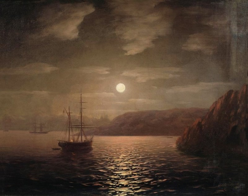 Moonlit Night on the Black Sea 1855 47h58. Ivan Konstantinovich Aivazovsky