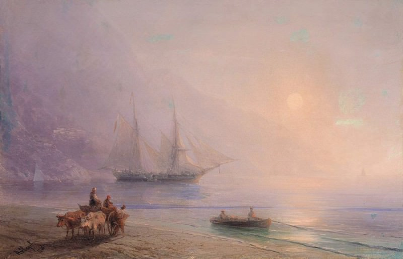On the Beach 1878. Ivan Konstantinovich Aivazovsky