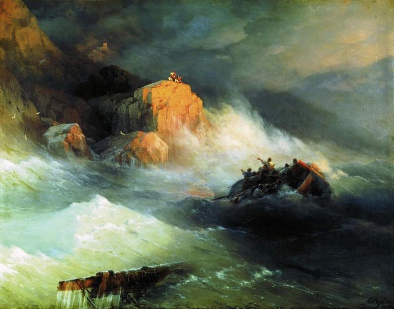 Shipwreck 1876 136h170. Ivan Konstantinovich Aivazovsky