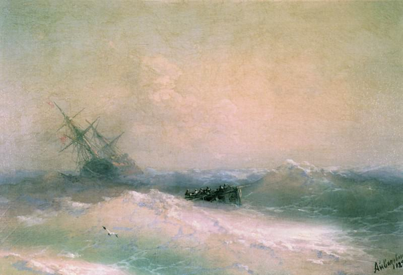 Буря на море 1893 28х41. Иван Константинович Айвазовский