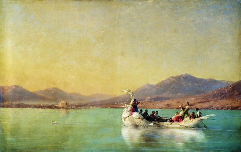 Wedding poet in ancient Greece 1886 94H146. Ivan Konstantinovich Aivazovsky
