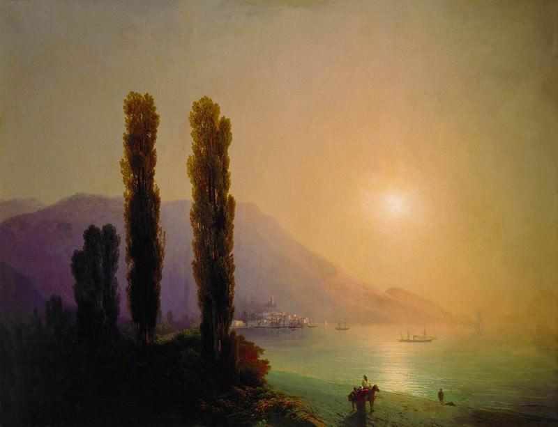Sunrise off the coast of Yalta. Ivan Konstantinovich Aivazovsky