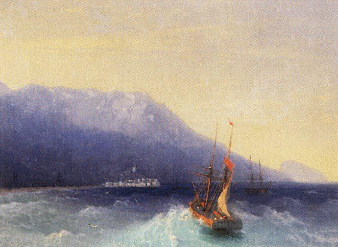 Ялта 1866 29,4х38,7. Иван Константинович Айвазовский