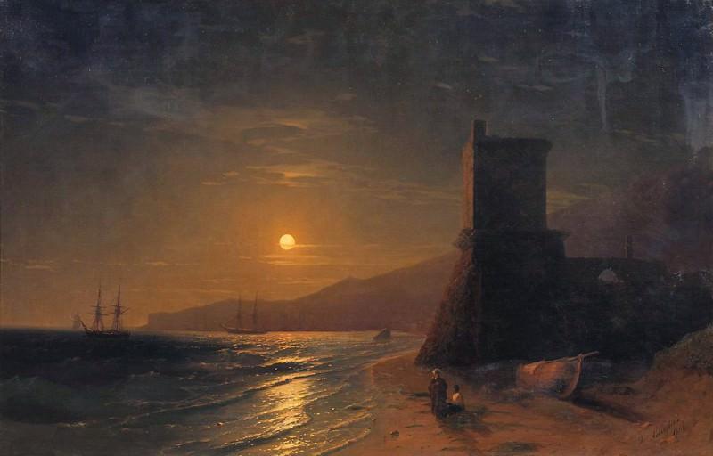 1862 Moonlight. Ivan Konstantinovich Aivazovsky