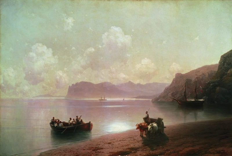 Morning at Sea 1883 110h163. Ivan Konstantinovich Aivazovsky