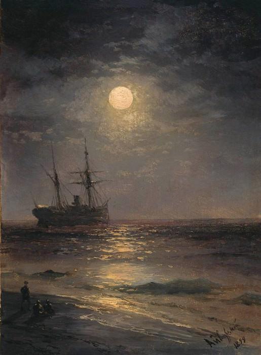 1899 Moonlight. Ivan Konstantinovich Aivazovsky